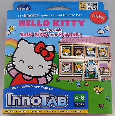 A Day With Hello Kitty & Friends Innotab Learning App Tablet Video Game 4-6 Yrs