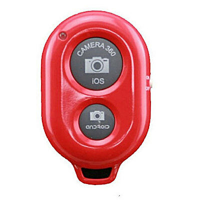 Selfie Remote Bluetooth Ausloeser Selbstausloeser Drahtlose  iOS Android Rot