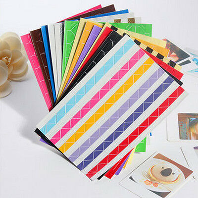 Lots Self-adhesive DIY Handcraft Picture Photo Album Frame Corner Sticker