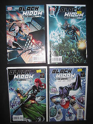 BLACK WIDOW & the MARVEL GIRLS : COMPLETE 4 ISSUE SERIES by TOBIN & CAMAGNI.2009