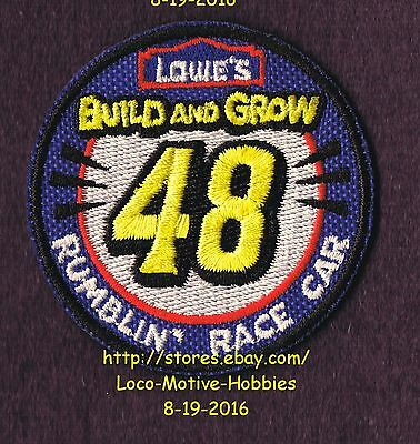 LMH PATCH Badge 2012 RUMBLIN' RACE CAR #48 Racecar  LOWES Build Grow Kids Clinic