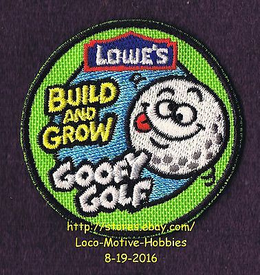 LMH PATCH Badge  2011 GOOFY GOLF Putting Ball Green LOWES Build Grow Kids Clinic
