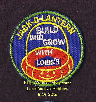 LMH PATCH Badge  JACK-O-LANTERN  Pumpkin Halloween LOWES Build Grow Kids Clinic