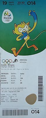 TICKET M 19.8.2016 Olympia Rio Finals Leichtathletik Athletics # O14