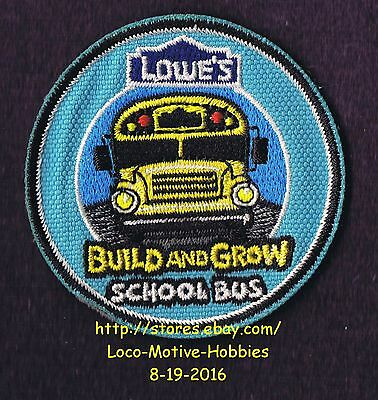 LMH PATCH Badge SCHOOL BUS Schoolbus LOWES Build Grow Project Series blue