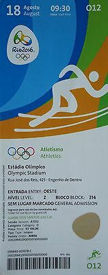 TICKET 18.8.2016 Olympia Rio Finals Leichtathletik Athletics # O12