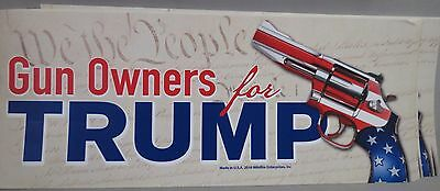 LOT OF 10 GUN OWNERS FOR TRUMP BUMPER STICKERS 2nd Amendment We the People 2016