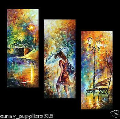 3pc Modern Abstract Huge Wall Art Oil Painting On Canvas (No Framed)