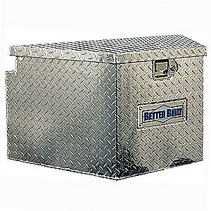 Better Built 66012336 Utility Trailer Tongue Tool Box Aluminum Diamond Plate