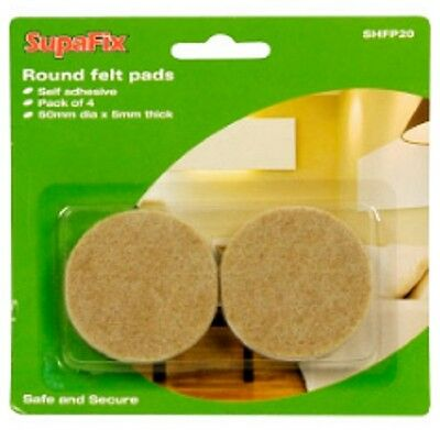 Felt Pads furniture leg floor protectors 50mm pack of 4 SupaFix