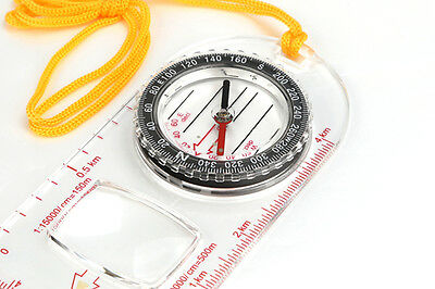 Map Reading Compass Walking Hiking Camping Survival Navigation Tool Pocket Scout