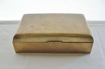 ARTS CRAFTS Old BOX Mission BRASS COPPER Rich PATINA Marked CHINA Perfect 4 Desk