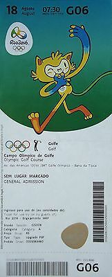 TICKET M 18.8.2016 Olympia Rio Olympic Games Golf Golfe # G06