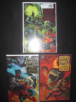 LEGENDS of the WORLD'S FINEST : COMPLETE 3 ISSUE SERIES. BATMAN.SUPERMAN.DC.1994