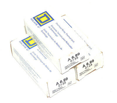 Lot Of 3 New Square D A 6.99 Thermal Units Fk A699