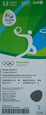 mint TICKET 13.8.2016 Olympia Rio Basketball Men's Argentinien - Brasilien # A24