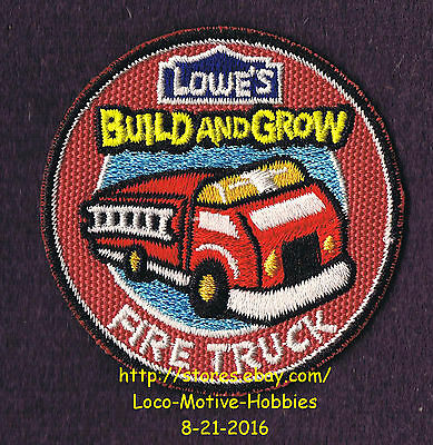 LMH PATCH Badge FIRE TRUCK Engine Firetruck Ladr Build Grow LOWES Project Series