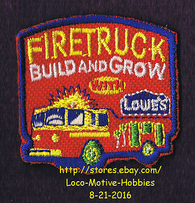LMH PATCH Badge  FIRE TRUCK Engine Firetruck Build Grow LOWES Kids Clinic red