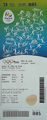 mint TICKET A 13.8.2016 Olympia Rio Beachvolleyball # B85
