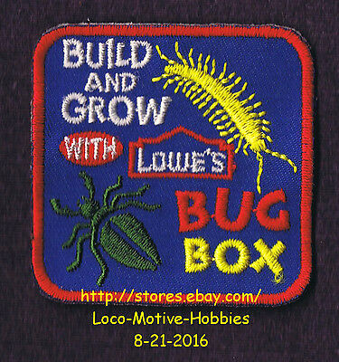 LMH PATCH Badge  BUG BOX Bugbox Centipede LOWES Build Grow Project Series Beetle