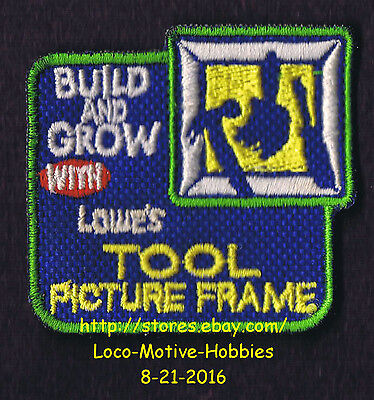 LMH PATCH Badge 2007 TOOL PICTURE FRAME Box Kit  LOWES Build Grow Kids Clinic