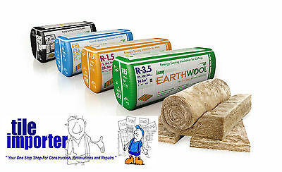 Earthwool Ceiling (Wall) Insulation Batts - R5.0 X 580 X 210mm - $76 Bag