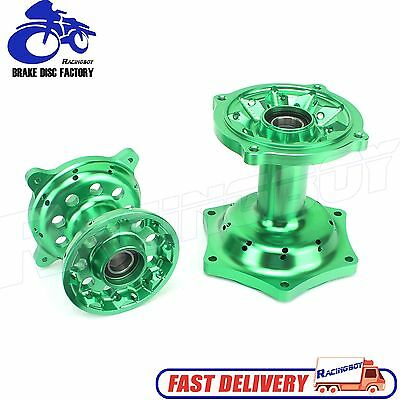 Green Billet Wheel Hub Set For Kawasaki KX125 KX250 KX250F KX450F 2006-2014