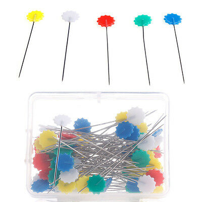 100pcs Sewing patchwork pins flower pin sewing pin Flower Head Pins With Box