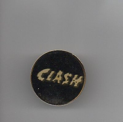 The Clash Logo Round Cloisonne Lapel Pin * Excellent & Colorful