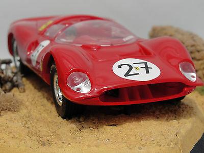 Scalextric Spanish Ferrari Gt-330 Red    #27  1.32  New  Unboxed