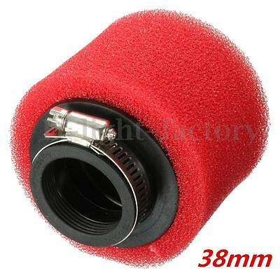 38mm Motorcycle red Foam Air Filter for Scooters Moped Quad ATV GO KART GY6 50CC