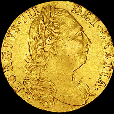 KING GEORGE III 1777 FULL GOLD ROSE GUINEA.. From The Royal Mint...