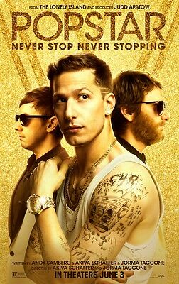 Popstar - original DS movie poster - 27x40 D/S Final Andy Samberg