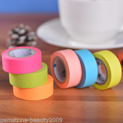 GB 1Set Fluorescent Colors Multicolor Cute Paper Tape DIY Photo Corner Stickers
