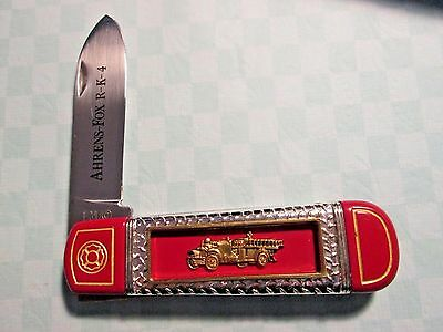 Collectible FRANKLIN MINT POCKET KNIFE* FIRE ENGINE*fire department*fireman