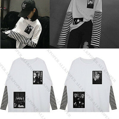 Kpop EXO Sweater False Two Piece T-shirt Sweatershirt Hoodie Pullover EX'ACT
