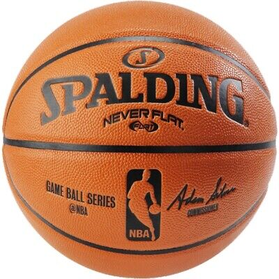 Spalding NBA Never Flat Game Replica Ball, Offical Size/29.5-Inch