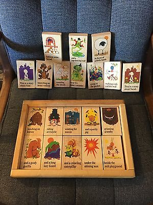 Wood Story Build Book Puzzle Blocks Creativity Rhyme and Reason Toys 20 Pc