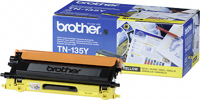 Brother Tn-135 Y Toner Yellow New