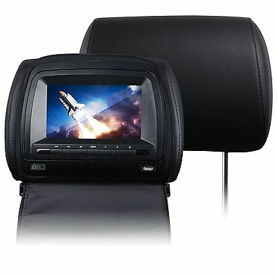 "7""u 2x Black HD Car Headrest DVD Player CD Pillow Digital Monitor Sony Lens Game"