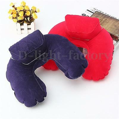 U Shaped Soft Inflatable Neck Support Rest Pillow Cushion Travel HOT