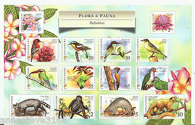 A Beautiful Flora And Fauna 2007A Sheet Of Mnh Stamps In Folder From Singapore