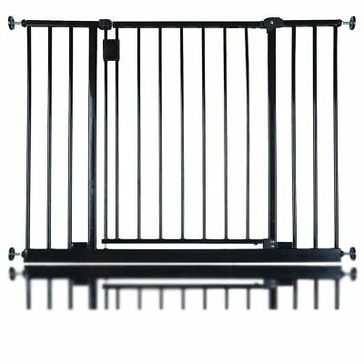 Safetots Extra Wide Hallway Stair Baby Safety Gate Extra Wide Barrier Black