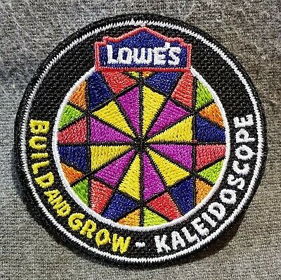 LMH PATCH Badge 2010 KALEIDOSCOPE Prism Rainbow Colors Grow LOWES Project Series