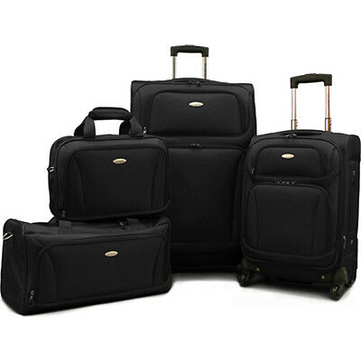 "Samsonite 4 Piece Lightweight Luggage Set, 28""& 20"" Spinners, Duffel & Boarding"