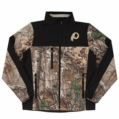 c12e4979 WOMEN'S NFL WASHINGTON Redskins Realtree Camo Colorblock Soft Shell Jacket  Small