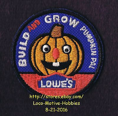 LMH PATCH Badge  PUMPKIN PAL  Jack-o-Lantern  Build Grow LOWES Project Series