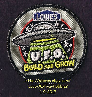 LMH PATCH Badge  2010 U.F.O. Flying Saucer Alien UFO  Build Grow LOWES Project