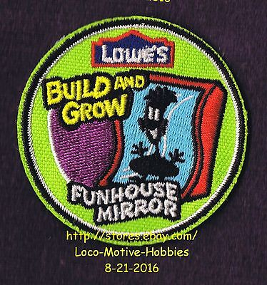 LMH PATCH Badge 2010 FUNHOUSE MIRROR  Carnival Fair Build Grow LOWES Kids Clinic