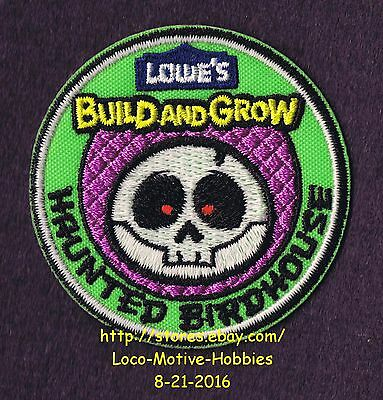 LMH PATCH Badge  2015 HAUNTED BIRDHOUSE Bird House  Build Grow LOWES Kids Clinic